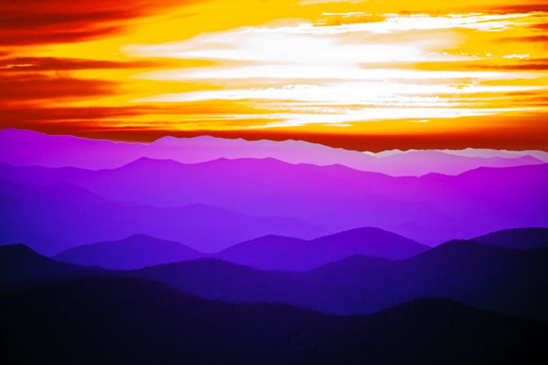 Purple Mountain Majesty, Blue Ridge Parkway, North Carolina, photo