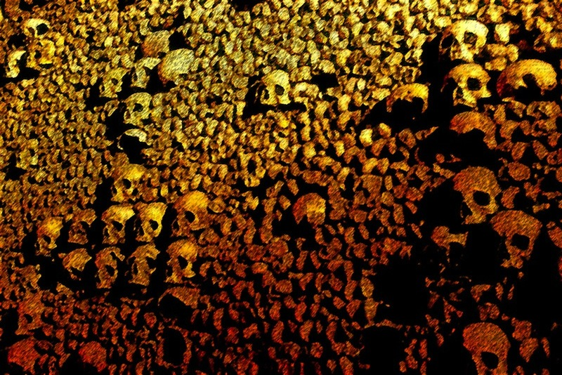 Catacombs, Paris, France , photo
